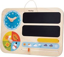 Детски календар - Дървена образователна играчка - детски аксесоар