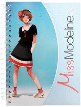 Тефтер и книжка със стикери 2 в 1 - Miss Modeline -