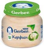 """Nestle Gerber - Пюре от карфиол - Бурканче от 80 g от серията """"Моето първо"""" - продукт"""