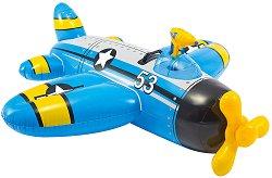Надуваем самолет - Детска играчка с вграден воден пистолет - количка