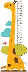 Ръстомер - Жирафче - Детски метър-стикер за измерване на височина от 50 cm до 150 cm - продукт