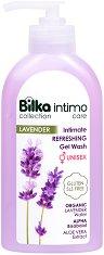 Bilka Intimo Care Lavender Intimate Refreshing Gel Wash - Освежаващ интимен гел за мъже и жени с био вода от лавандула - олио