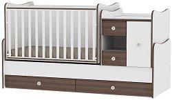 Трансформиращо се детско легло - MiniMax - Цвят бял и орех -