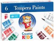 """Темперни бои - Комплект от 6 или 10 цвята x 16 ml от серията """"Creative Kids"""""""