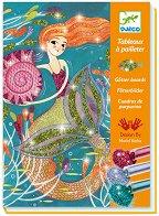 Оцвети с брокат - Русалки - Творчески комплект за рисуване - детски аксесоар