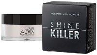 Aura Shine Killer Microfinish Powder - Дълготрайна матираща пудра за лице - шампоан