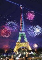 Айфеловата кула - Неонов пъзел -
