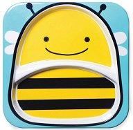 """Чиния за хранене с две отделения - Пчеличка - За бебета над 6 месеца от серията """"Zoo"""" - чаша"""