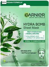 """Garnier Skin Naturals Moisture + Freshness Tissue Mask - Хидратираща и освежаваща памучна маска за лице за нормална към комбинирана кожа от серията """"Skin Naturals"""" - маска"""