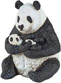 """Седнала панда с бебе панда - Фигура от серията """"Диви животни"""" -"""
