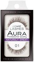"""Aura Power Lashes Naturaly Great 01 - Мигли от естествен косъм от серията """"Power Lashes"""" - шампоан"""