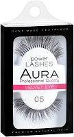 """Aura Power Lashes Velvet Eye 05 - Мигли от естествен косъм от серията """"Power Lashes"""" - пинцета"""