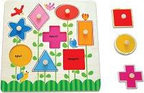 Научи формите и цветовете - Дървена образователна играчка - играчка