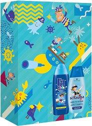 Подаръчен комплект за момчета - Fa Kids & Schauma - Шампоан и душ гел за деца - лак