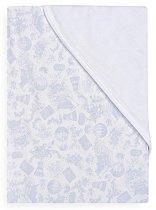 Синя бебешка памучна пелена - Балони - Размер 78 х 78 cm - продукт