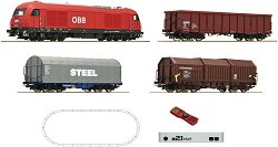 Товарен влак с дизелов локомотив RH 2016 - OBB - Дигитален стартов комплект с релси и дистанционно управление -