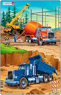 Строителна площадка - 1 част - Пъзел в картонена подложка - пъзел