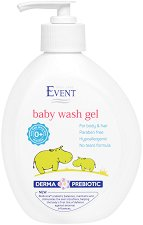 """Event Baby Wash Gel - Измиващ бебешки гел за коса и тяло от серията """"Baby"""" -"""