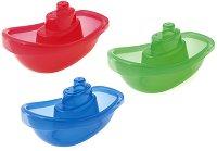 Цветни лодки - Комплект от 3 броя играчки за баня -