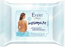 Event Intimate Wet Wipes - Интимни мокри кърпички с алое вера и млечна киселина - крем
