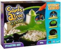 """Магически светещ пясък за моделиране - Стартов комплект - Творчески комплект от серията """"Sands Alive"""" - фигура"""