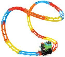 Локомотив с релси - Tumble Train - Детска играчка - количка