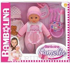 """Говорещо бебе - Камелия - Кукла с аксесоари от серията """"Bambolina"""" - играчка"""
