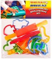 Формички за моделин и пластилин - Комплект с точилка и ножче