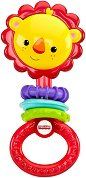 Дрънкалка - Лъвче - Бебешка играчка с дъвкалка - количка