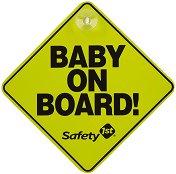Табела с надпис - Baby on board - Аксесоар за автомобил - аксесоар