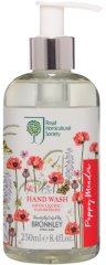"Bronnley RHS Poppy Meadow Hand Wash - Течен сапун с аромат на цветя от серията ""Poppy Meadow"" - душ гел"