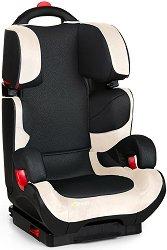 """Детско столче за кола - Bodyguard Plus: Black & Beige - За """"Isofix"""" система и деца от 15 до 36 kg -"""