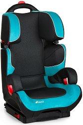 """Детско столче за кола - Bodyguard Plus: Black & Aqua - За """"Isofix"""" система и деца от 15 до 36 kg -"""