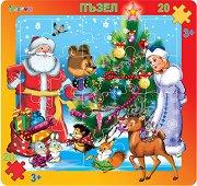 Коледа в гората - Пъзел в картонена подложка - пъзел