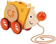 Таралеж - Дървена играчка за дърпане - детски аксесоар