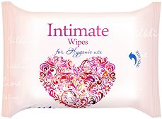 Интимни мокри кърпички - С екстракт от лайка и млечна киселина в опаковка от 25 броя - спирала