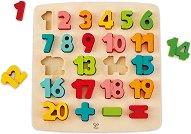 Цифрите - Детски образователен дървен пъзел -
