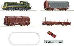 Товарен влак с дизелов локомотив BB63000 - SNCF - Дигитален стартов комплект с релси и дистанционно управление -