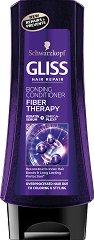 """Gliss Fiber Therapy Bonding Conditioner - Възстановяващ балсам за третирана и увредена коса от серията """"Fiber Therapy"""" - балсам"""