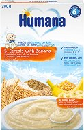Инстантна млечна каша - 5 Зърна с банан - Опаковка от 200 g за бебета над 6 месеца -
