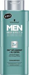 Schwarzkopf Men Deep Effect 3 Zink Anti-Dandruff + Oil Control Shampoo -