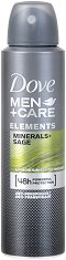 """Dove Men+Care Elements Minerals + Sage Anti-perspirant - Дезодорант против изпотяване за мъже от серията """"Men+Care Elements"""" - червило"""