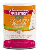 Plasmon - Бебешки гранулирани бишкоти - Метална кутия от 374 g за бебета след 4 месеца - шише