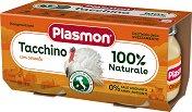 Plasmon - Пюре от пуешко месо - Опаковка от 2 x 80 g за бебета над 4 месеца - пюре