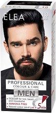 Elea Men Professional Color & Care - Безамонячна крем боя за мъже за коса, брада и мустаци - боя