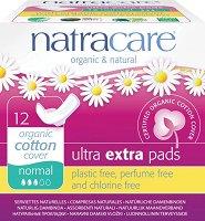 Natracare Ultra Extra Pads Normal - Дамски превръзки с крилца в опаковка от 12 броя - продукт