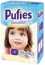 Pufies Sensitive 5 - Junior - Пелени за еднократна употреба за бебета с тегло от 11 до 20 kg -