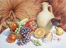 Комплект за рисуване по номера - Still life fruit
