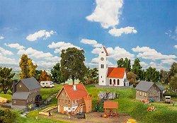 Църква със селски сгради - Сглобяем модел -