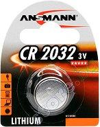 Бутонна батерия CR2032 - Литиева 3V - 1 брой - батерия